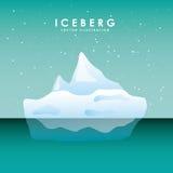 conception de glacier d'iceberg Image stock
