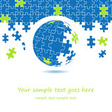 conception de globe du puzzle 3d Photos libres de droits