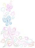 Conception de griffonnage de papillon illustration de vecteur