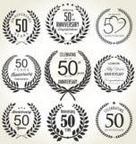 Conception de guirlande de laurier d'anniversaire, 50 ans Image libre de droits