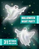 Conception de Halloween avec deux fantômes image stock