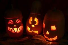 Conception de Halloween Jack effrayant OLantern au-dessus de noir Images stock
