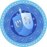 Conception de Hanukkah avec le dreidel Image libre de droits