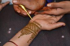 Conception de henné Images stock