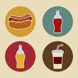 Conception de hot-dog Image libre de droits