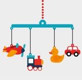 Conception de jouets de bébé illustration libre de droits