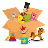 Conception de jouets de bébé Photo libre de droits