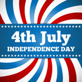 Conception de Jour de la Déclaration d'Indépendance Images stock