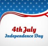 Conception de Jour de la Déclaration d'Indépendance Photos stock
