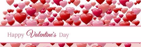 Conception de jour de valentines avec des coeurs illustration libre de droits