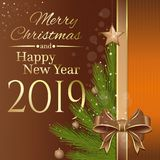 Conception de Joyeux Noël et de bonne année illustration libre de droits