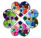 Conception de kaléidoscope des coeurs de fleur (barrettes) Photo libre de droits