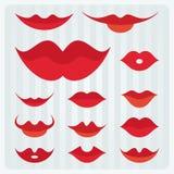 Conception de lèvres Images libres de droits