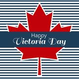 Conception de l'affiche pour Victoria Day heureuse Image stock