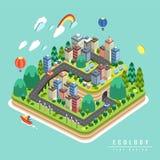 Conception de l'avant-projet d'écologie illustration stock