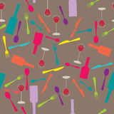 Conception de l'avant-projet de carte de restaurant Photo libre de droits