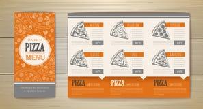 Conception de l'avant-projet de pizza Template de corporation pour des dessin-modèles d'affaires Calibre de document illustration libre de droits