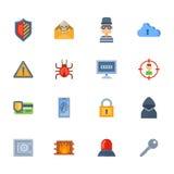 Conception de l'avant-projet de réseau de technologie de protection des données de vecteur d'attaque de pirate informatique de vi Photos libres de droits
