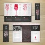 Conception de l'avant-projet de vin d'aquarelle Template de corporation pour des dessin-modèles d'affaires illustration stock
