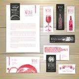 Conception de l'avant-projet de vin Template de corporation pour des dessin-modèles d'affaires illustration libre de droits