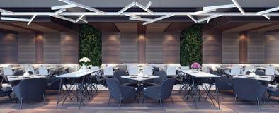 Conception de l'avant-projet moderne de salon de restaurant Image stock