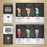 Conception de l'avant-projet plate de menu de cocktail Template de corporation pour des dessin-modèles d'affaires Photo libre de droits