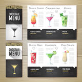 Conception de l'avant-projet plate de menu de cocktail Template de corporation pour des dessin-modèles d'affaires illustration libre de droits
