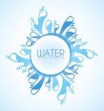 Conception de l'eau illustration de vecteur