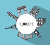 Conception de l'Europe illustration stock
