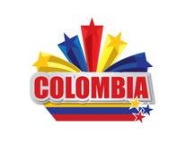 Conception de la Colombie Photos libres de droits