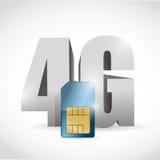 conception de la connexion 4G et de l'illustration de carte de sim illustration de vecteur