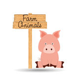 conception de la ferme d'animaux Photo stock