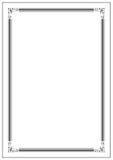 Conception de la frontière A4 de page de vecteur pour le projet illustration stock