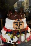 CONCEPTION DE LA LA GLACE_CAKE DE CONDITORI POUR LA COURONNE PINCE Image stock