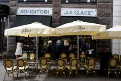 CONCEPTION DE LA LA GLACE_CAKE DE CONDITORI POUR LA COURONNE PINCE Images stock
