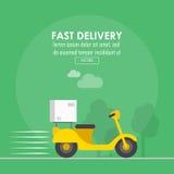 Conception de la livraison de nourriture, illustration Photographie stock libre de droits