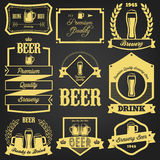 Conception de la meilleure qualité de label de bière Images libres de droits