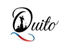 Conception de la ville de QUITO avec le bleu et l'alerte Photographie stock libre de droits
