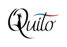 Conception de la ville de QUITO avec le bleu et l'alerte Photo libre de droits