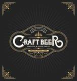 Conception de label d'autocollant de bière de métier Photos stock