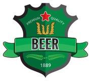 Conception de label de bière Image libre de droits