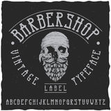 Conception de label de police et témoin de label de Barber Shop Photographie stock libre de droits
