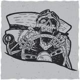 Conception de label de T-shirt de maîtres de Hotrod Photographie stock libre de droits