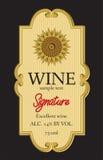 Conception de label de vin Image libre de droits
