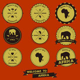 Conception de label de vintage de l'Afrique Photographie stock