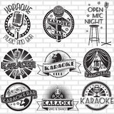 Conception de labels de vecteur de karaoke Image stock