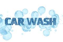 Conception de lavage de voiture Photos stock