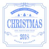 Conception de lettrage éclatante d'or de Joyeux Noël Photos libres de droits