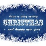 Conception de lettrage éclatante d'or de Joyeux Noël Image libre de droits