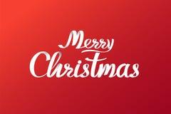 Conception de lettrage calligraphique de Joyeux Noël Cardez le descripteur Texte de vecteur pour l'affiche de cadeau de salutatio photos libres de droits